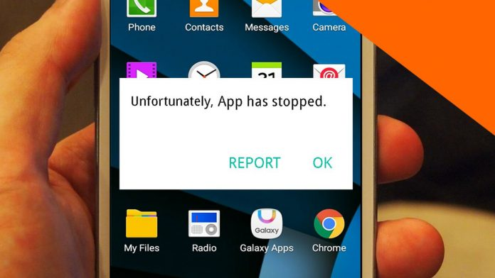 """Unfortunately App has Stopped"""" Error in Android"""